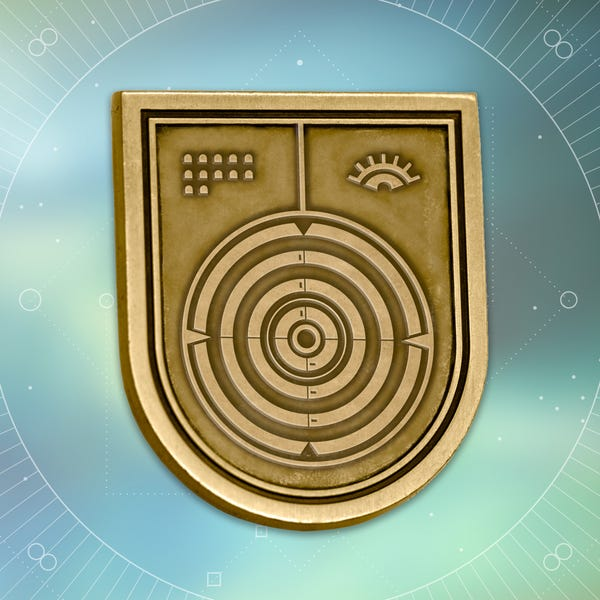 Bungie Rewards - Deadeye Seal Collectible Medallion Pin